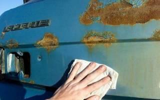 Как закрасить ржавчину на машине своими руками?