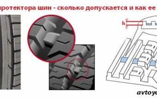 Как проверить глубину протектора шины?