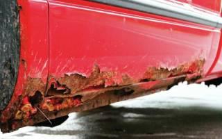 Ржавеет низ дверей на авто что делать?