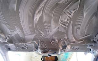 Как помыть потолок в машине своими руками?