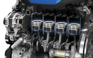 Каков порядок работы четырехтактного четырехцилиндрового двигателя?