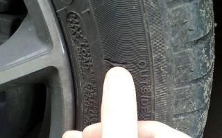 Как заделать боковой порез шины своими руками?