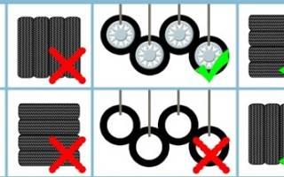 Как хранить колеса и шины?