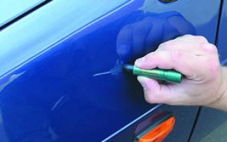 Как подкрасить машину своими руками?