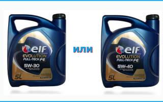 Моторное масло 5w30 или 5w40 что лучше?