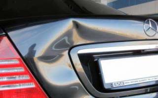 Как выправить вмятину на машине своими руками?