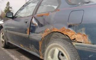 Как покрасить ржавчину на машине своими руками?